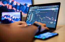 Checking Finance Trading in laptop